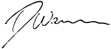 Signature of Dan Woolley