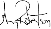 Signature of Greg Robertson